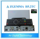 2017 New High - Tech Zgemma H5.2tc Satellite Receiver Linux OS E2 DVB - S2+2*DVB - T2/C Dual Tuners with Hevc/H. 265