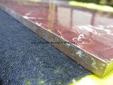 赤く完全なボディ大理石のタイル