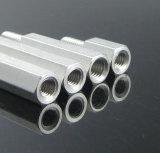 Fêmea Hex de alumínio feito-à-medida ao suporte isolador/espaçador masculinos