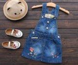 [ليتّل كيد] بنات نمو يطوّر دنيم أطفال دعائم ثوب