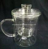 Taza de té de cristal de la venta caliente con la cubierta