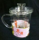 Copo de chá de vidro da venda quente com tampa