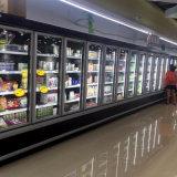 Fernkompressor-Glastür-Supermarkt Multideck Kühlvorrichtungen und Gefriermaschinen auf Lager