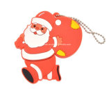 Movimentação do flash do USB do Natal do USB Pendrive do PVC de Santa do presente da promoção