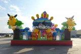 Combo gonflable géant de parc d'attractions de glissière de thème du monde d'océan