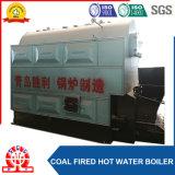 Le tambour simple horizontal Chaîne-Râpent la chaudière à eau chaude allumée par charbon