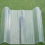 Feuille en plastique ondulée enduite de toiture de la Chine de couleur matérielle incassable de fournisseur