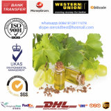 Luz pura - petróleo de semente líquido amarelo da uva como o solvente esteróide