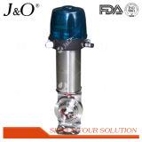 Válvula de borboleta pneumática sanitária da bolacha do aço inoxidável