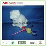 Il cane di ceramica del mestiere decorativo con DIY per la decorazione dei capretti, OEM è benvenuto