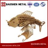 Sculpture en décoration de /Home avec précision de laser de découpage de poissons en métal d'art de bureau/cadeau de constructeur