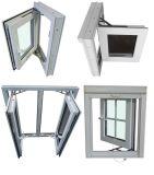 2016 ultima finestra lustrata della stoffa per tendine di disegno UPVC della griglia doppia, grande Windows di vetro