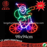 Outdoor LED Christmas Santa Clause Rope Motif Decoração Light for Street