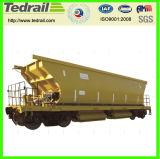 O trem, frete, C70, 80t, funil, grão, tanque, Parte-Abre, as peças do vagão