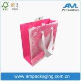 La cinta sellada al por mayor anunció la bolsa de papel modificada para requisitos particulares Dongguan de Kraft