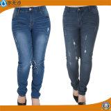 工場Omeの女性の細いジーンズの方法デニムの綿のジーンズ