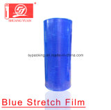 Película azul elástica excelente do envoltório da película de estiramento da máquina de 12-35mic LLDPE