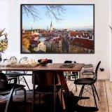 Impression du centre moderne de l'illustration HD de vue de ville