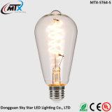 Bulbo energy-saving da vela do filamento do diodo emissor de luz da fábrica ST64 E27 4W