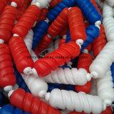 Ligne de flottement colorée de voie de piscine de qualité avec la corde et le crochet