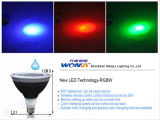 Lámpara controlable del RGB PAR38 del diente azul