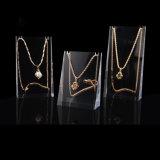 Crémaillère pendante d'étagère d'exposition de support de présentoir de bijou acrylique de collier