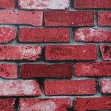 Papel de empapelar de 2016 del precio al por mayor ladrillos de rojo 3D nuevo