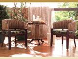 Таблица ротанга мебели ротанга гостиницы установленная с стулом