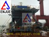 Funil Rail-Mounted de Eco do funil do pneu de borracha com unidade da extração de poeiras