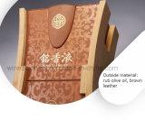 Nuevo estilo de gama alta de madera de impresión de cuero caja de embalaje de vino