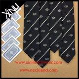Laço tecido Microfiber magro do logotipo da forma para homens