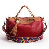 Saco de Tote colorido Emg4785 das mulheres das bolsas do couro genuíno da cinta