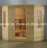 Sala de sauna em madeira sólida com tamanho personalizado (AT-8614)