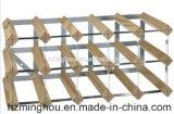 Fabrik-hölzerner Großhandelsausstellungsstand mit galvanisierter Stahlwein-Zahnstange