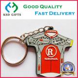 Doppeltes versah nette Firmenzeichen 3D Gummi-/Plastik-/weich Belüftung-Schlüsselkette für Förderung mit Seiten