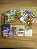 Карточки бумаги малышей установленные карточными играми играя