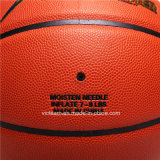 Talla de cuero 7 6 de la PU de la insignia de encargo baloncesto de 5 emparejamientos