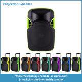 Altavoz portable de la proyección de Digitaces LED del sistema plástico del PA con la batería