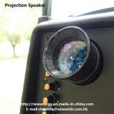 12 дюймов Пластиковые тележки Сценическое LED Проекция Speaker с батареей