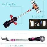 팬과 LED 붙박이 Bluetooth에 의하여 자동화되는 Selfie 지팡이