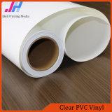 Brillant en PVC transparent en vinyle avec un pigment d'encre d'impression