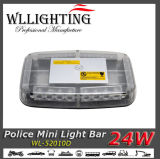Diodo emissor de luz ambarino/branco que adverte mini Lightbar 24W