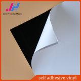 Vinyle auto-adhésif lustré/mat noir de PVC