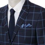 Giacca sportiva casuale del nuovo di blu marino di modo dell'azzurro degli uomini rombo di affari