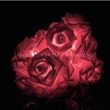 Indicatore luminoso leggiadramente della stringa del fiore del LED Rosa per la decorazione della festa nuziale