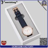 La montre-bracelet de papier promotionnelle d'emballage de cadres de montres de cuir de cadre de montre Yxl-465 enferme dans une boîte la vente en gros faite sur commande en gros d'usine de logo d'OEM