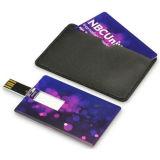 Insignia a todo color de la impresión del laser del USB del regalo creativo del mecanismo impulsor del flash del USB del clave de tarjeta