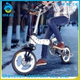 Manillar de goma modificado para requisitos particulares bici de montaña plegable de 12 pulgadas