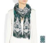 方法フリンジが付いている多彩な印刷された細長いウールのスカーフ