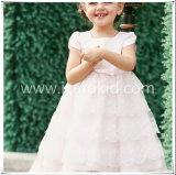 La longue robe blanche de filles de fleur de filles d'usager pour le gosse vêtx My785